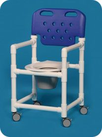 Economy Shower Commode w/IPU Seat and New Backrest