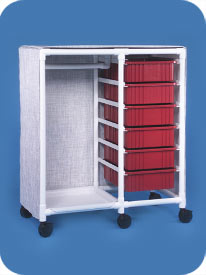 Garment Rack with Bins