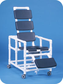Super Deluxe Reclining Shower Chair Commode