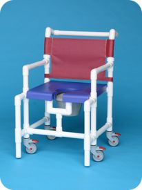 Midsize Open Front Shower Chair Commode
