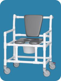Oversize Open Front Shower Chair Commode